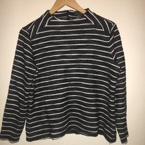 The Limited Sweater Blouse striped XL Black&White